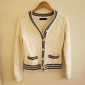 EU Eunice knitted white cardigan